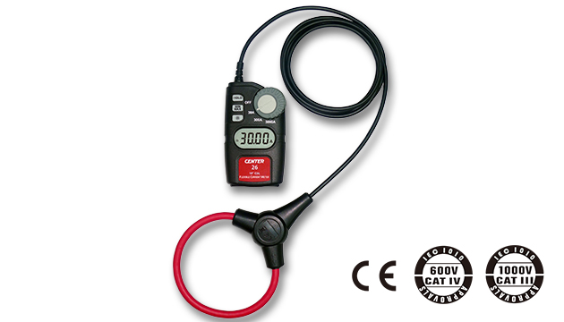 "CENTER 26_ Flexible AC Clamp Meter (10""/18"" Coil) 1"