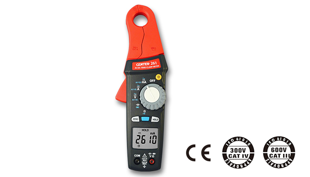 CENTER 261_ TRMS AC/DC Low Current Clamp Meter (1mA) 1