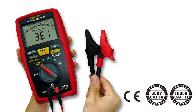 CENTER 361_ Low Test Voltage Insulation Tester (No Continue) 2